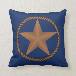 ロープの枕が付いているテキサス州星色 クッション