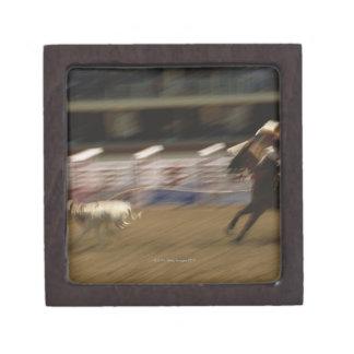 ロープをかけている子牛カルガリーのスタンピード ギフトボックス