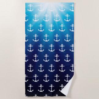 ロープパターン|航海のなギフトを持ついかり ビーチタオル