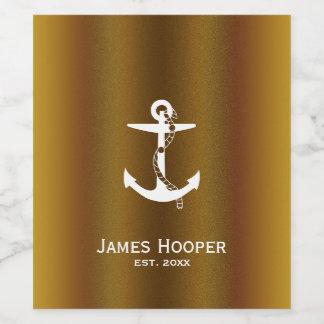 ロープ| Personalizableの航海のなギフトと固定して下さい ワインラベル