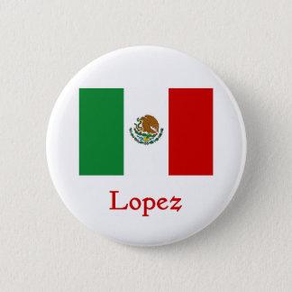 ローペッツのメキシコ旗 5.7CM 丸型バッジ