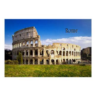 ローマおよび名前入りなColosseum ポスター