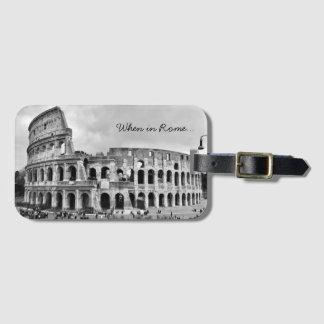 ローマで」B&Wの荷物が付く時ローマColosseum 「 ラゲッジタグ