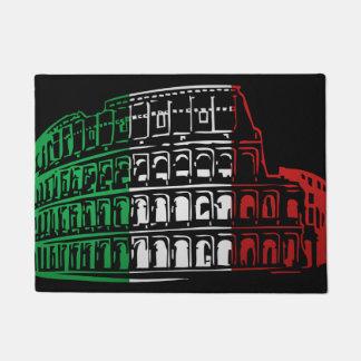 ローマのコロシアムのイタリアンな旗の玄関マット ドアマット