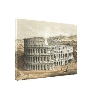 ローマのコロシアムのヴィンテージの芸術 キャンバスプリント