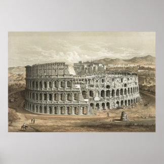 ローマのコロシアムのヴィンテージの芸術 ポスター