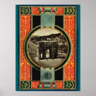 ローマのコンスタンチーヌのアーチ ポスター
