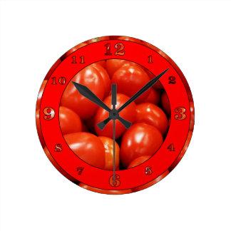 ローマのトマト ラウンド壁時計