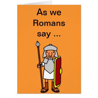 ローマのハッピーバースデーの挨拶状 カード
