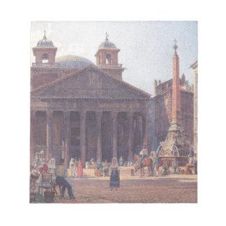 ローマのパンテオンおよび広場のdella Rotonda ノートパッド