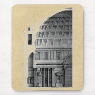 ローマのパンテオンのクラシカルな建築 マウスパッド