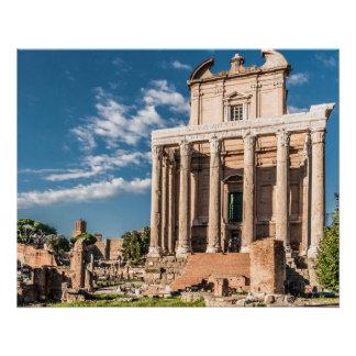 ローマのフォーラムの完全なポスター  Colosseum ポスター