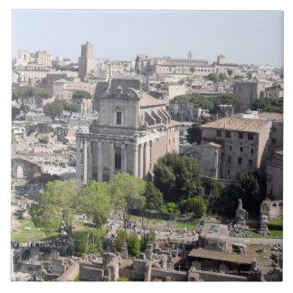 ローマのフォーラムのfomeの概観Farnese 正方形タイル大