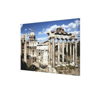ローマのフォーラム、ローマ、イタリア キャンバスプリント