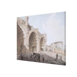 ローマのフォーラム(平和の寺院)の眺め1779年 キャンバスプリント