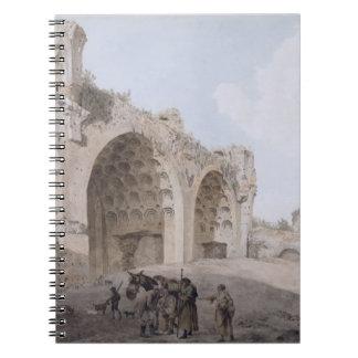 ローマのフォーラム(平和の寺院)の眺め1779年 ノートブック
