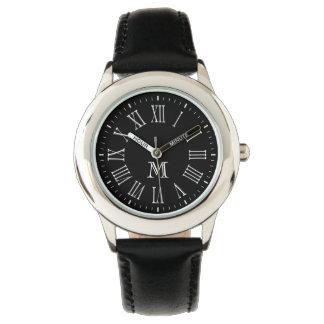 ローマのモノグラムの白 腕時計