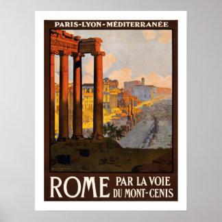 ローマのヴィンテージ旅行 ポスター