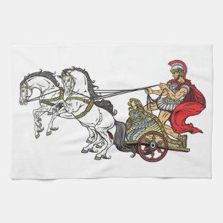 ローマの一人乗り二輪馬車 キッチンタオル