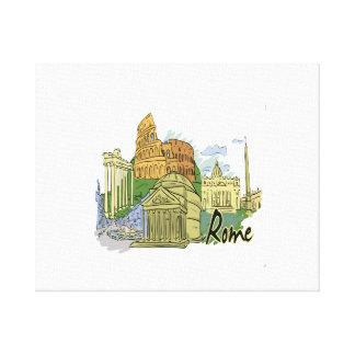 ローマの写実的な旅行image.png キャンバスプリント