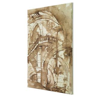ローマの刑務所、c.1744-5 キャンバスプリント