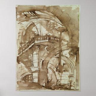 ローマの刑務所、c.1744-5 ポスター
