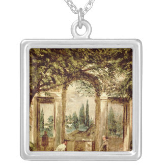 ローマの別荘Mediciの庭 シルバープレートネックレス