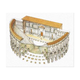ローマの劇場 キャンバスプリント