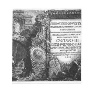 ローマの古さ、t. 1のジョバンニ著プレートI. ノートパッド