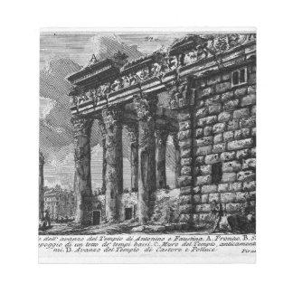 ローマの古さ、t. 1のプレートXXXI。 寺院 ノートパッド