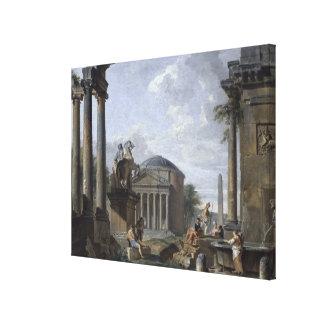 ローマの台なしの景色 キャンバスプリント