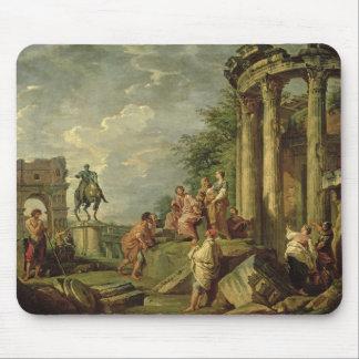 ローマの台なし1743年の中の小作人(キャンバスの油) マウスパッド