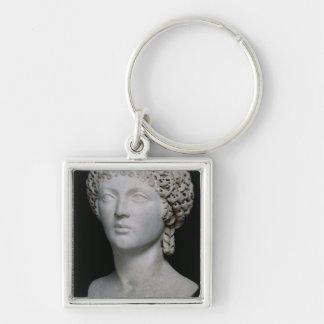 ローマの女性のバスト、多分Poppaea キーホルダー