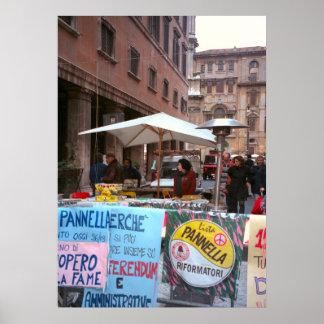 ローマの市場の政治プロパガンダ ポスター
