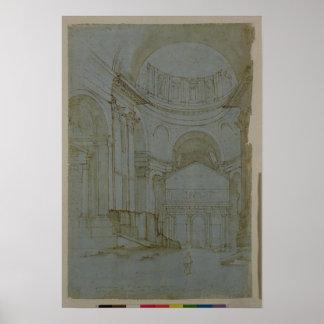 ローマの新しいセントピーターの眺め ポスター