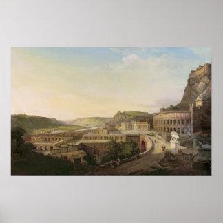 ローマの時のウィーン、1860年の眺め ポスター