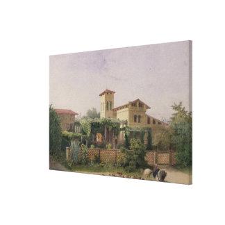 ローマの浴室1848年 キャンバスプリント
