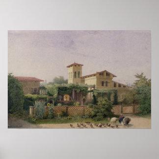 ローマの浴室1848年 ポスター