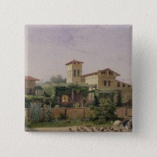 ローマの浴室1848年 5.1CM 正方形バッジ