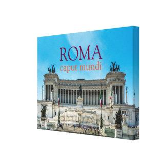 ローマの画像的な眺めのエレガントなキャンバス キャンバスプリント