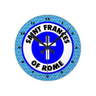ローマの聖者フランシス ラウンド壁時計