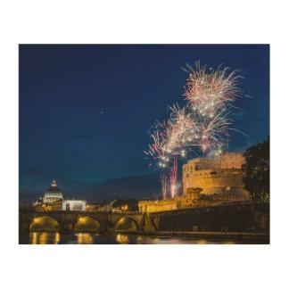 ローマの花火 ウッドウォールアート