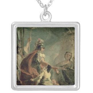 ローマの近くにCoriolanus、c.1725 シルバープレートネックレス