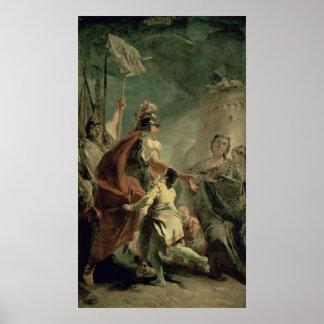 ローマの近くにCoriolanus、c.1725 ポスター