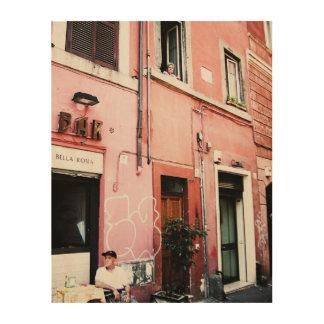 ローマの通り ウッドウォールアート