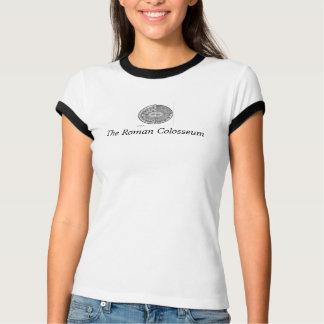 ローマのColosseumの女性信号器のTシャツ Tシャツ