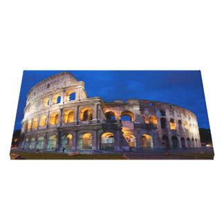 ローマのColosseum キャンバスプリント