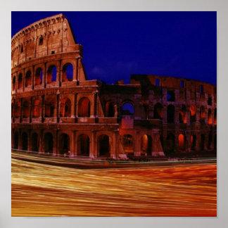 ローマのColosseum ポスター
