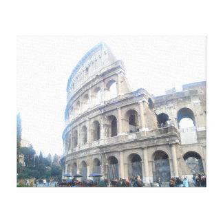 ローマのColosseum -ローマの休日 キャンバスプリント