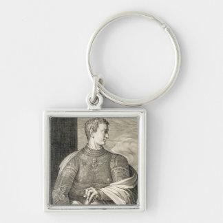 ローマのGaiusシーザー「Caligula」(12-41広告)皇帝 キーホルダー
